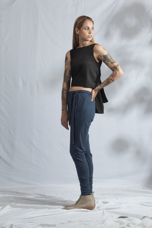 shop ethical sustainable & ethical clothing by ReCreate Clothing Fuse Reversible Tank Top | Black Denim