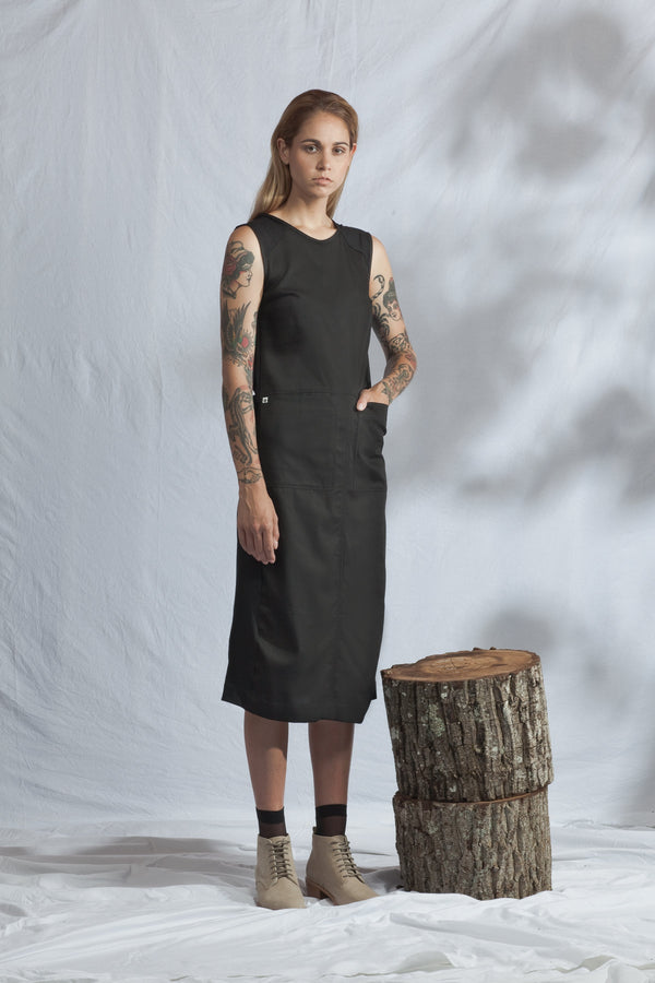 shop ethical sustainable & ethical clothing by ReCreate Clothing Fusion Dress | Black