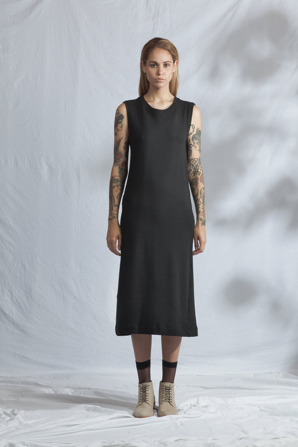 shop ethical sustainable & ethical clothing by ReCreate Clothing Pillar Dress | Black