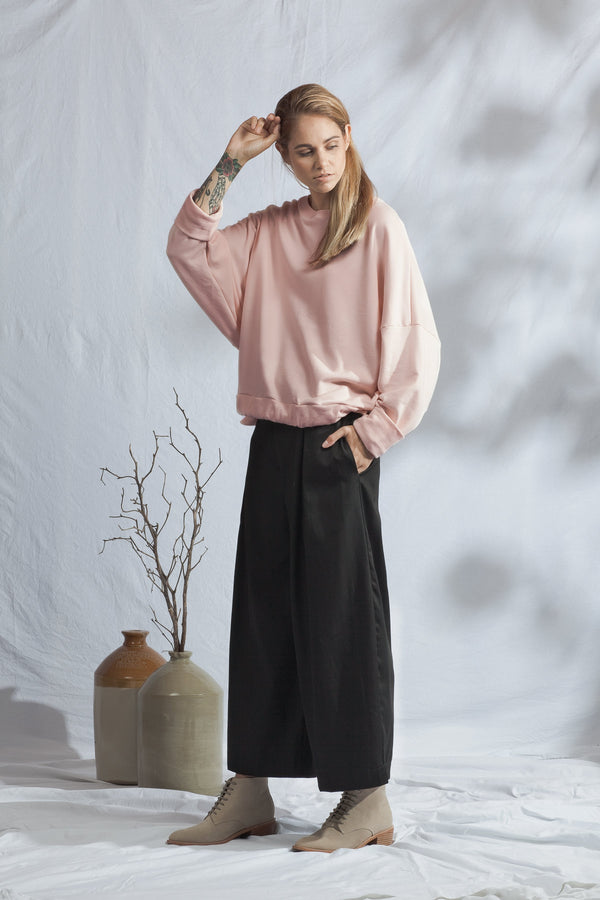 shop ethical sustainable & ethical clothing by ReCreate Clothing Tether Crew | Dusky Pink