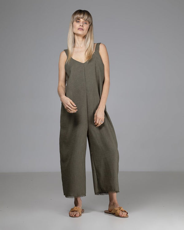 shop ethical sustainable & ethical clothing by Indecisivethelabel Limited Edition Sadie Jumpsuit Green