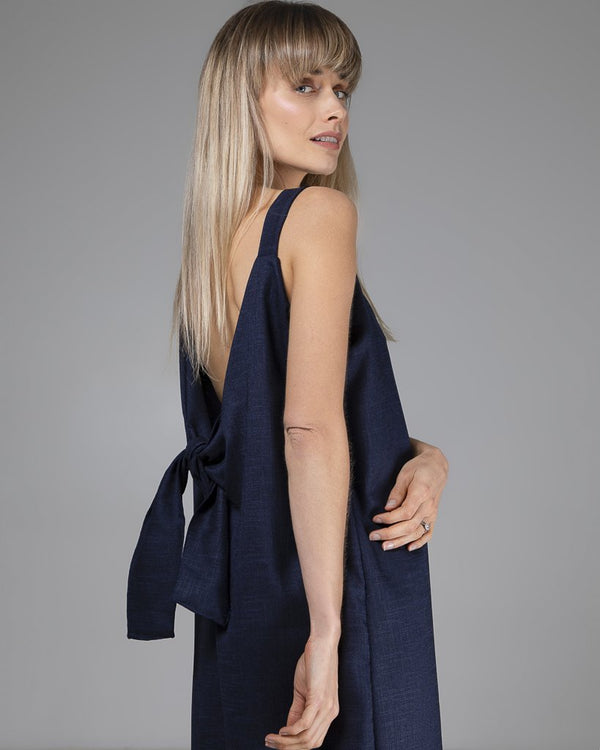 shop ethical sustainable & ethical clothing by Indecisivethelabel Limited Edition Sadie Jumpsuit Navy