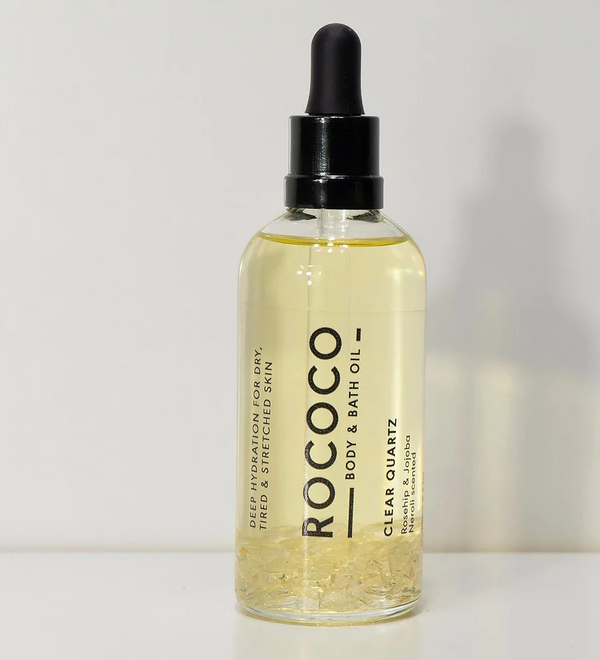 shop ethical sustainable & ethical clothing by ROCOCO BODY OIL Clear Quartz Body Oil 100ml