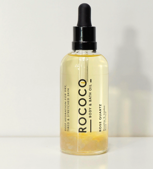 shop ethical sustainable & ethical clothing by ROCOCO BODY OIL Rose Quartz Body Oil 100ml