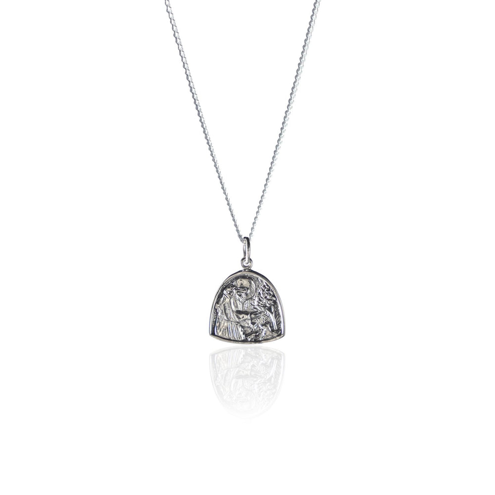 St Assisi - Patron Saint of Animals Necklace - Silver