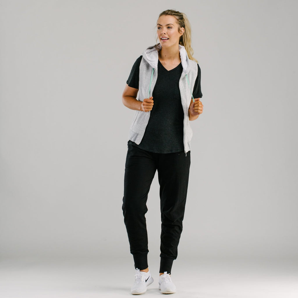shop ethical sustainable & ethical clothing by Avila the label Active living slouch pants