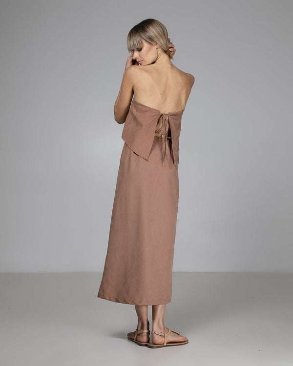 shop ethical sustainable & ethical clothing by INDECISIVE THE LABEL Linen Sophie Wrap Dress