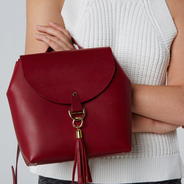 shop ethical sustainable & ethical clothing by Minima Handcrafted Satchel Marsala