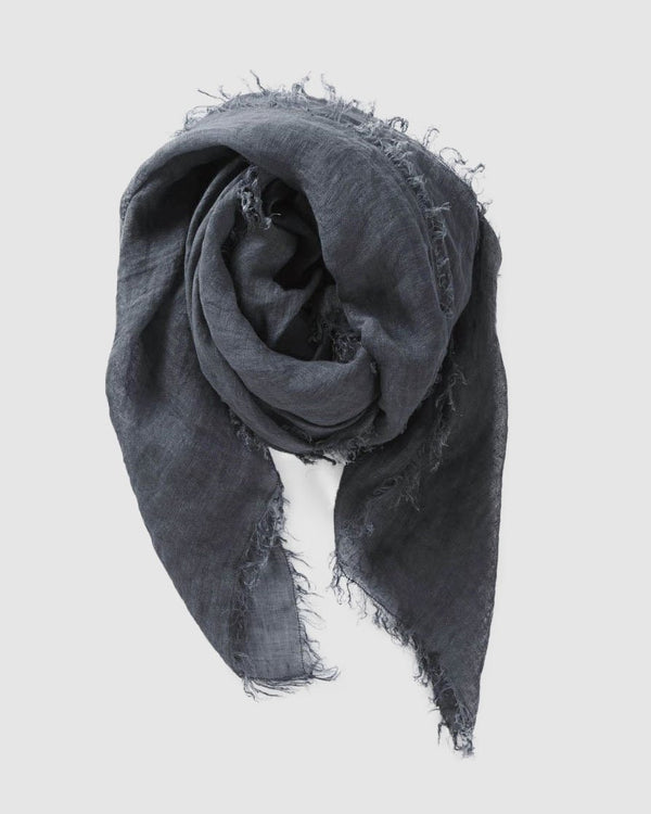 shop ethical sustainable & ethical clothing by Cloth & Co. Linen Scarf | Steel Blue