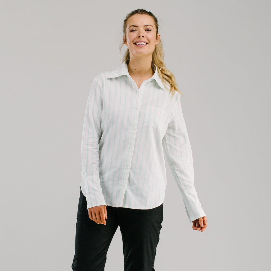 shop ethical sustainable & ethical clothing by Avila the label Long cuff organic shirt