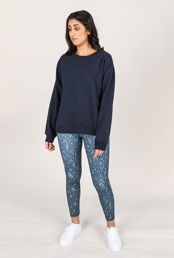 shop ethical sustainable & ethical clothing by TEAM TIMBUKTU Organic Jumper - Navy - xxs, m, l, xl only