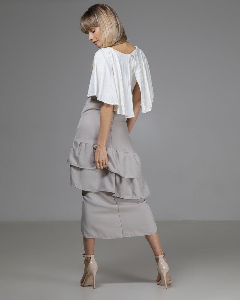 shop ethical sustainable & ethical clothing by Indecisivethelabel Limited Edition Ellie Top White