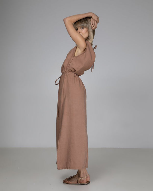 shop ethical sustainable & ethical clothing by Indecisive the label Tencel Linen Abigail Dress