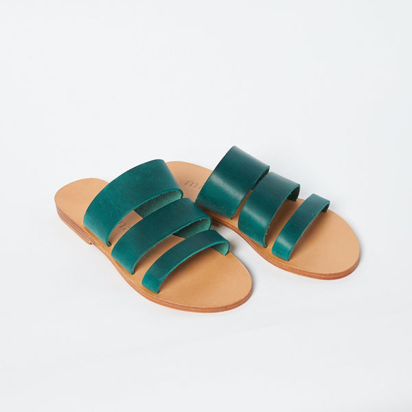 shop ethical sustainable & ethical clothing by Minima Handcrafted Trinity Slide Agave Green