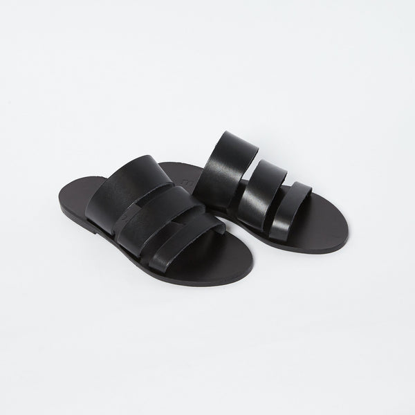 shop ethical sustainable & ethical clothing by MINIMA HANDCRAFTED Trinity Slide Black