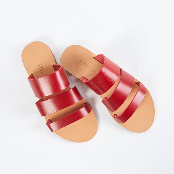 shop ethical sustainable & ethical clothing by Minima Handcrafted Trinity Slide | Red