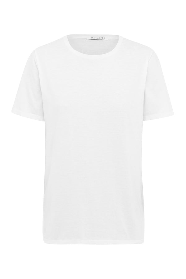 shop ethical sustainable & ethical clothing by Twill and Tee Relax Tee | White