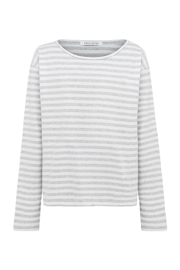shop ethical sustainable & ethical clothing by Twill and Tee Striped Viva Boat Tee