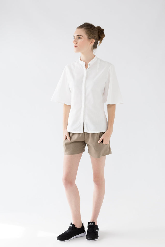 shop ethical sustainable & ethical clothing by VOUS Marie Bell Sleeve Shirt