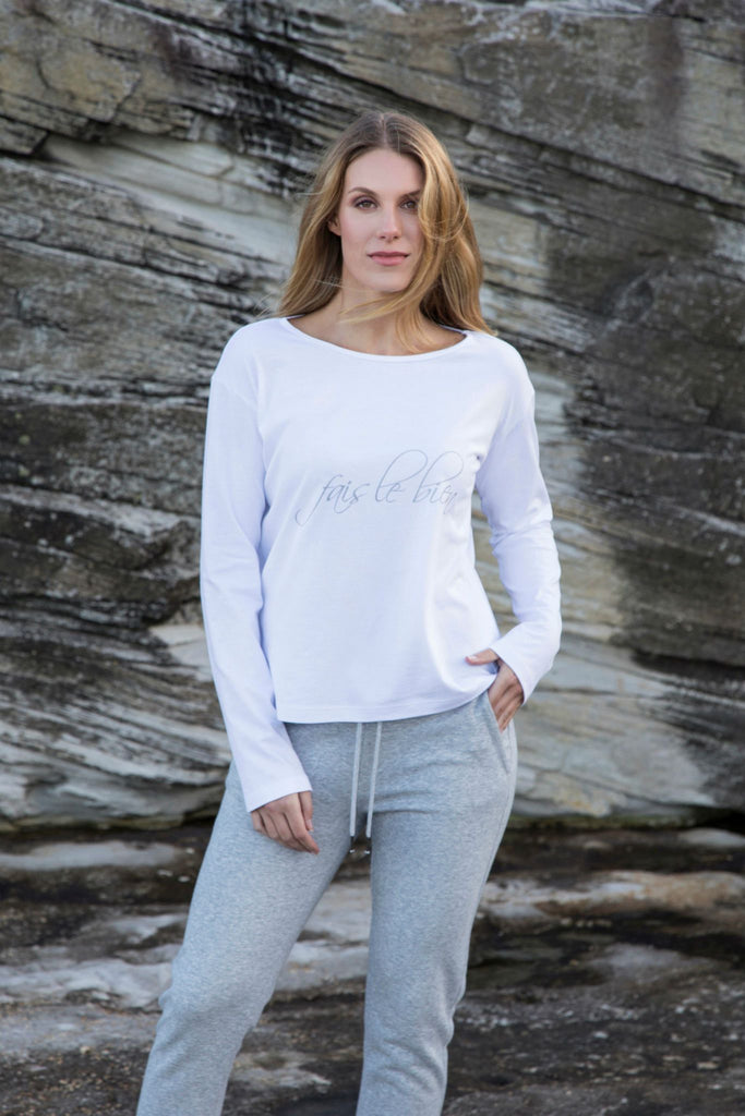 shop ethical sustainable & ethical clothing by Twill and Tee Fais le bien | Viva Boat Tee