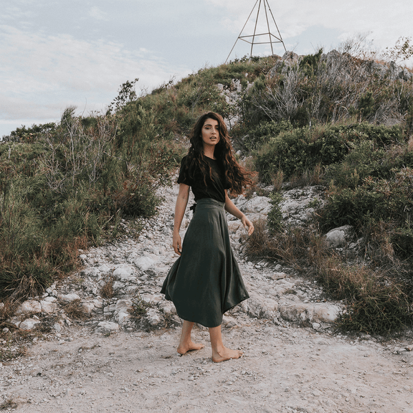 shop ethical sustainable & ethical clothing by Tasi Travels Wilder Wrap Skirt