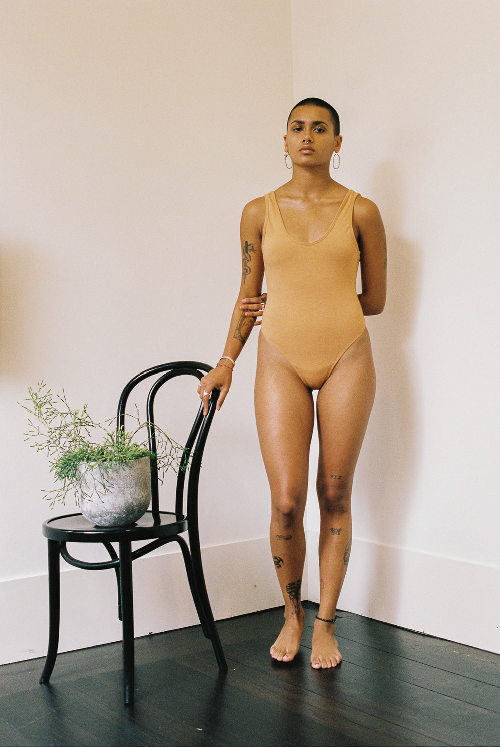 shop ethical sustainable & ethical clothing by Bare Boutique Amaia Body in Apricot Tan