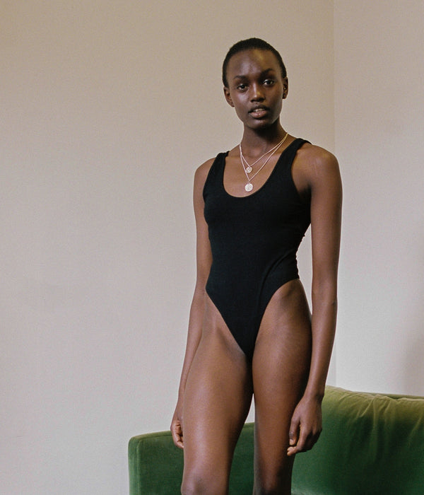 shop ethical sustainable & ethical clothing by BARE BOUTIQUE Amaia Body in Black