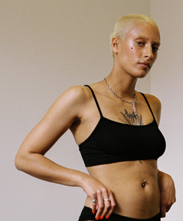 shop ethical sustainable & ethical clothing by Bare Boutique Koha Crop in Black
