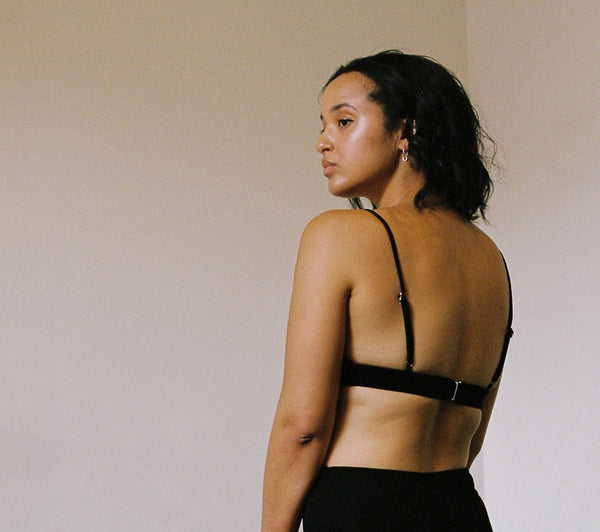 shop ethical sustainable & ethical clothing by BARE BOUTIQUE Awhi Bra in Black