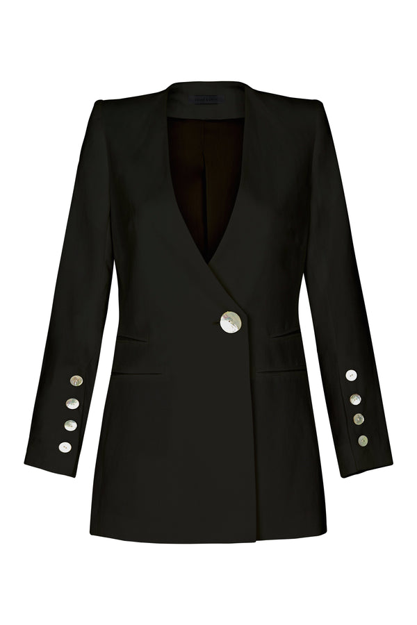 shop ethical sustainable & ethical clothing by CEDAR & ONYX Icer Black Blazer