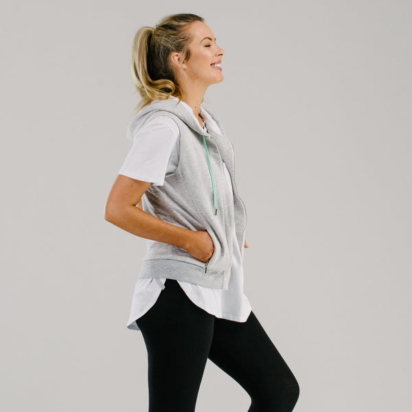 shop ethical sustainable & ethical clothing by Avila the label Brighton Vest - touch of mint