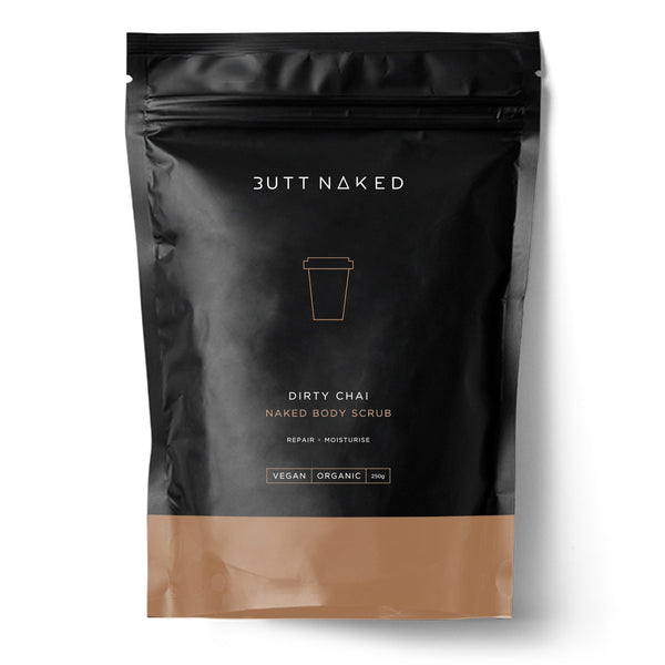 shop ethical sustainable & ethical clothing by BUTT NAKED SKINFOOD Dirty Chai Coffee Scrub 250g