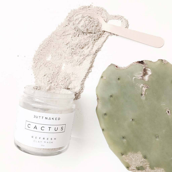 shop ethical sustainable & ethical clothing by BUTT NAKED SKINFOOD Cactus Clay Face Mask