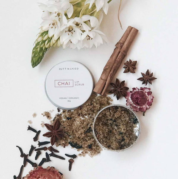 shop ethical sustainable & ethical clothing by BUTT NAKED SKINFOOD Chai Lip Scrub 30g