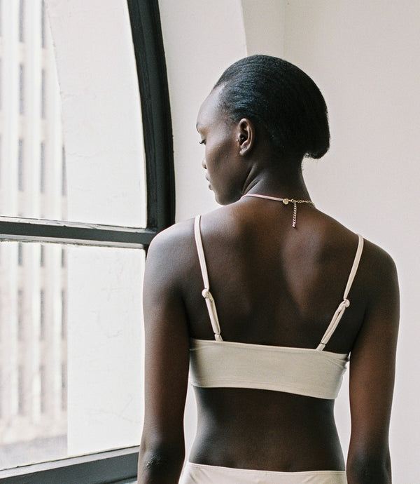 shop ethical sustainable & ethical clothing by BARE BOUTIQUE Koha Crop in Cream