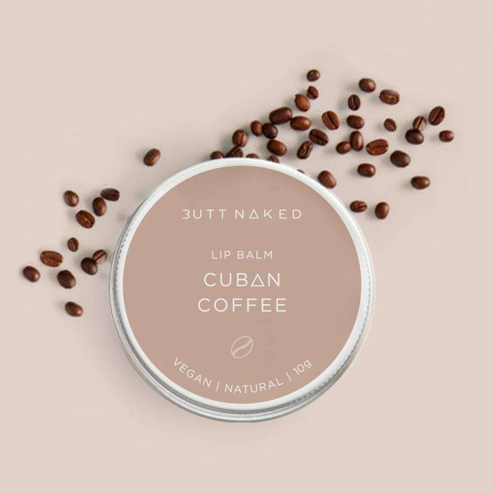 shop ethical sustainable & ethical clothing by BUTT NAKED SKINFOOD Cuban Coffee Lip Balm