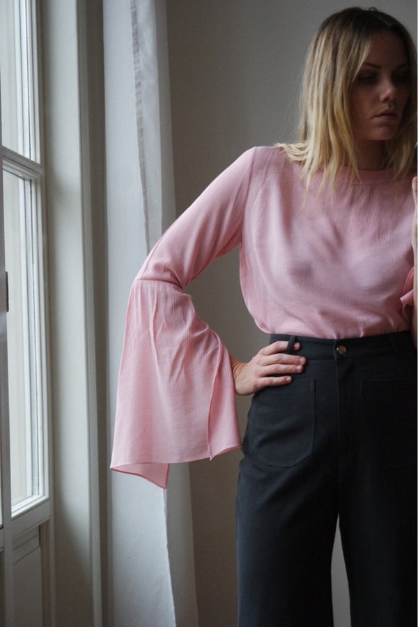 shop ethical sustainable & ethical clothing by OH SEVEN DAYS The Monday-Long-Sleeve Shirt - Pink