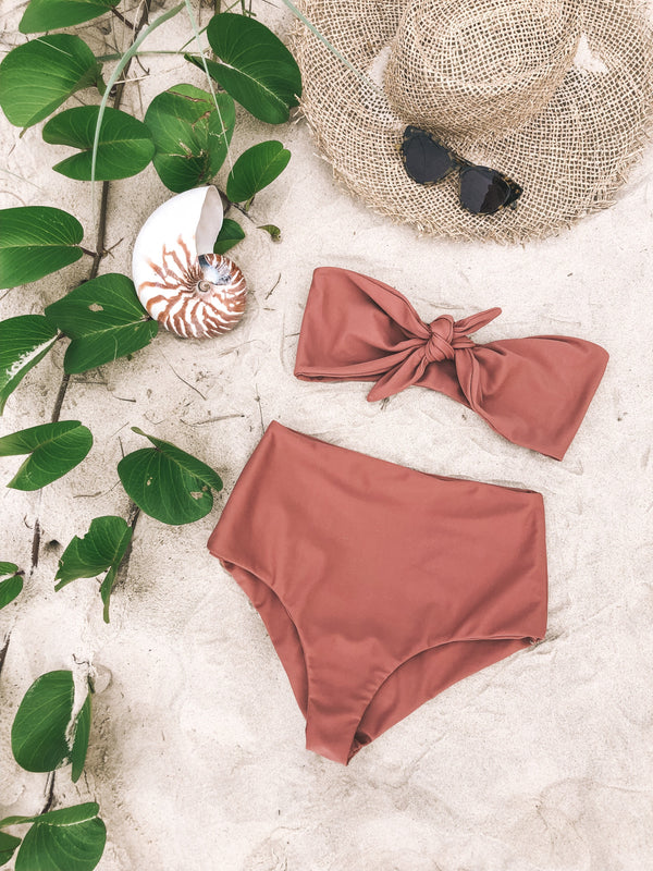 shop ethical sustainable & ethical clothing by The Halcyon Daze Byron Bay Summer Fling Bandeau - Dusty Rose