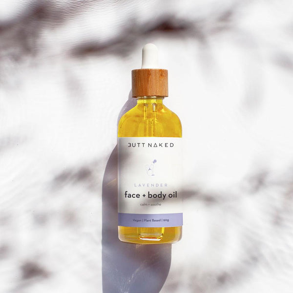shop ethical sustainable & ethical clothing by Butt Naked Skinfood Lavender Body Oil + Face Cleanser