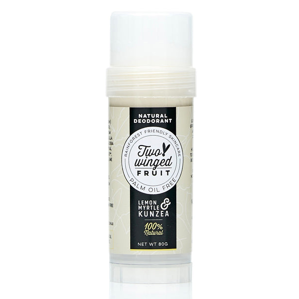 shop ethical sustainable & ethical clothing by Two Winged Fruit Lemon Myrtle & Kunzea Deodorant