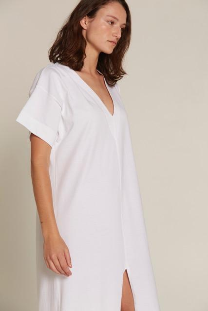 shop ethical sustainable & ethical clothing by BARE BONES Everything Dress - White