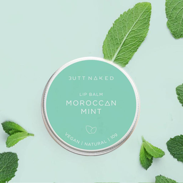 shop ethical sustainable & ethical clothing by BUTT NAKED SKINFOOD Moroccan Mint Lip Balm 10g