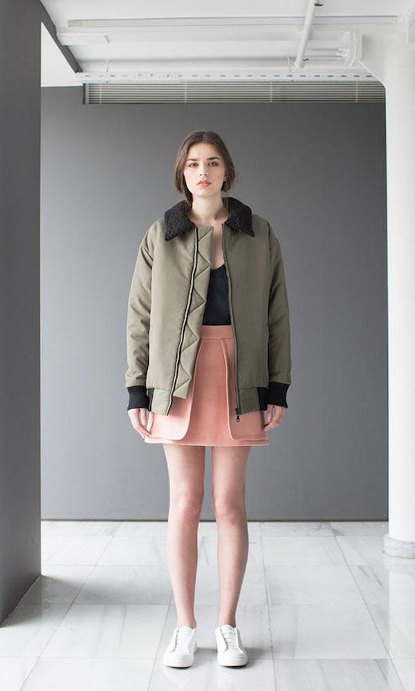 shop ethical sustainable & ethical clothing by OH SEVEN DAYS Feder Bomber Jacket
