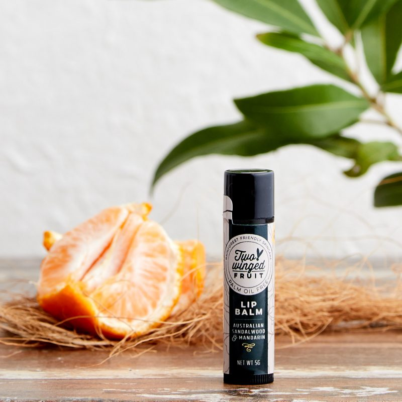 shop ethical sustainable & ethical clothing by TWO WINGED FRUIT Australian Sandalwood & Mandarin Lip Balm