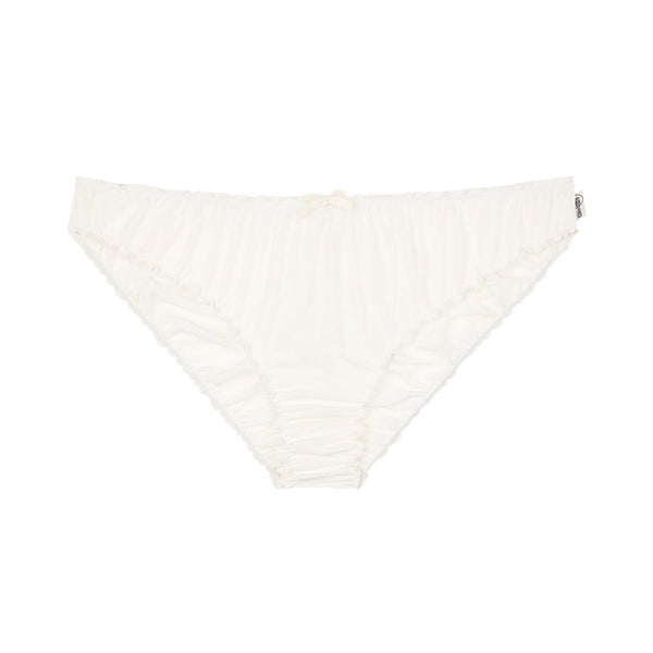 Ruffle knickers - bamboo in natural