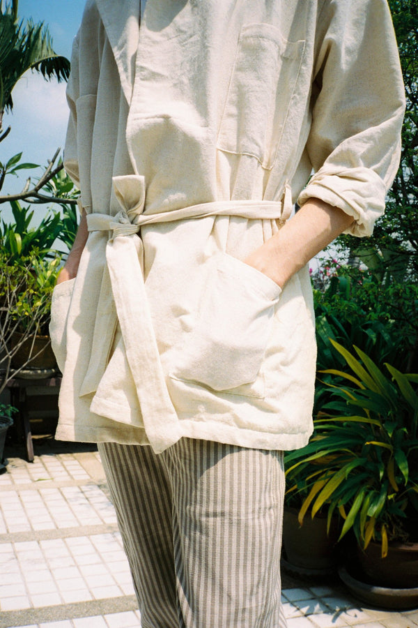 shop ethical sustainable & ethical clothing by SEEKER x RETRIEVER Anywhere Jacket - Natural