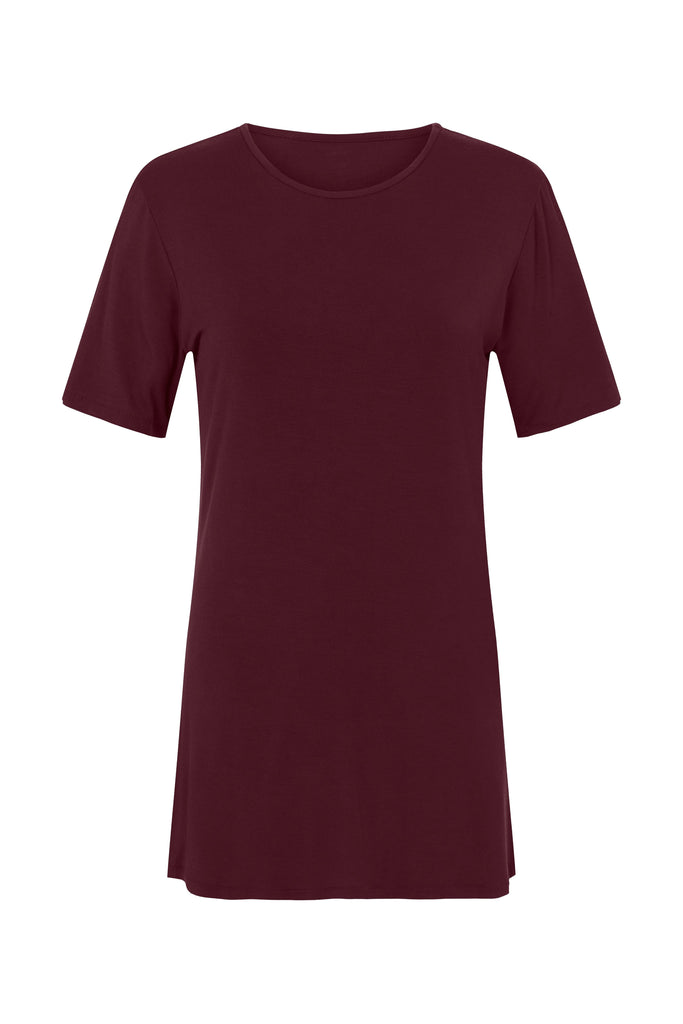 shop ethical sustainable & ethical clothing by CEDAR & ONYX Where Have You Been... Bamboo T-shirt (Wine)