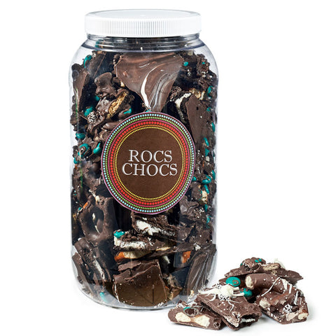 Rocs Chocs Assorted Milk and Dark Chocolate Jug, 4 lb. Party Size
