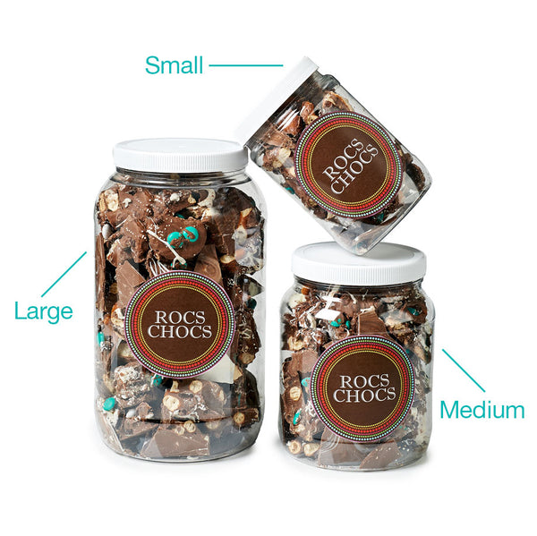 Rocs Chocs Assorted Milk and Dark Chocolate Jug, 2 lb.