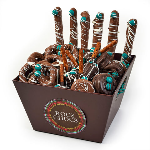 Rocs Chocs Chocolate Covered Treat Basket, 24-piece assortment